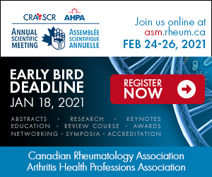 Canadian Rheumatology Association Annual Scientific Meeting, February 24-26, 2021