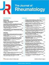 The Journal of Rheumatology: 38 (1)